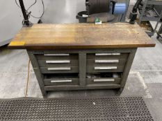 Kennedy 8-Drawer Butcher Block Top Workbench w/ Contents