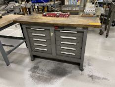 Kennedy 10-Drawer Butcher Block Top Workbench w/ Contents