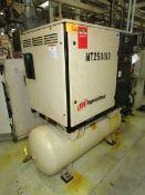 2003 Ingersoll Rand PKG SSR UP6-20-200 20HP Horizontal Tank Mounted Compressor/ Air Dryer Combo