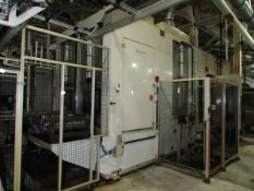 2007 Valiant Robotic Twin Pallet Automatic High-Pressure Parts Deburr and Wash Machine