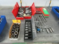 Lot of Assorted Metric and SAE Socket Wrenches