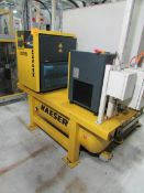 2006 Kaeser SM8 7.5HP Horizontal Tank Mounted Compressor/ Air Dryer Combo