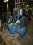 Quincy Compressor QC00706D00087 Dual Horizontal Tank Mounted Compressors/Air Dryer Combo