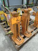 Simplex 1017 (2) 10-Ton Machine Lift Jacks