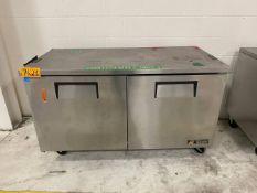 True TUC-60 (1) Mobile 2-Door 4-Shelves Refrigerator