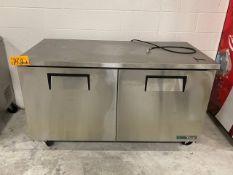 True TUC-60-HC (1) Mobile 2-Door 4-Shelves Refrigerator