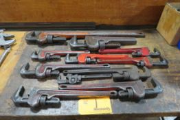 Lot of (11) Assorted Pipe Wrenches