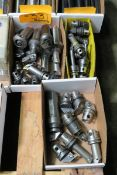 Lot of Assorted KM40 and KM50 Lathe Tool Holders