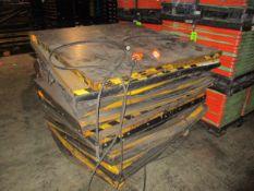Lot of (2) 6.000 Lb ECOA Power Lift Tables