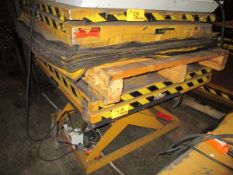 Lot of (2) 6,000 Lb ECOA Power Lift Tables