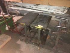 Lot of (3) Lift Tables and (3) Rollers