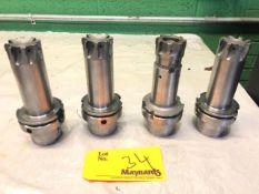 (4) HSK80 various Face Mills