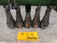 (5) Kennametal HSK63A 60668424 dia32 End Mill Tool