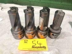 (3) Kennametal HSK63A Boring Drill Tool