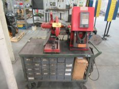 Cart with Chop Saw and Crimping Machine