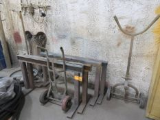 Lot of Steel Saw Horses and Carts