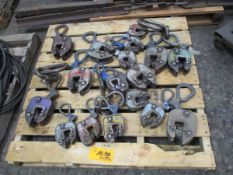Lot of Assorted Plate Lifting Clamps