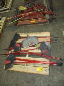 Lot of Brooms on (2) Pallets