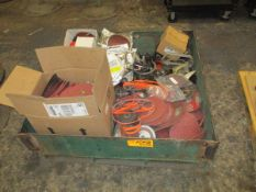 Steel Box with Large Qty Sanding Pads/Disks