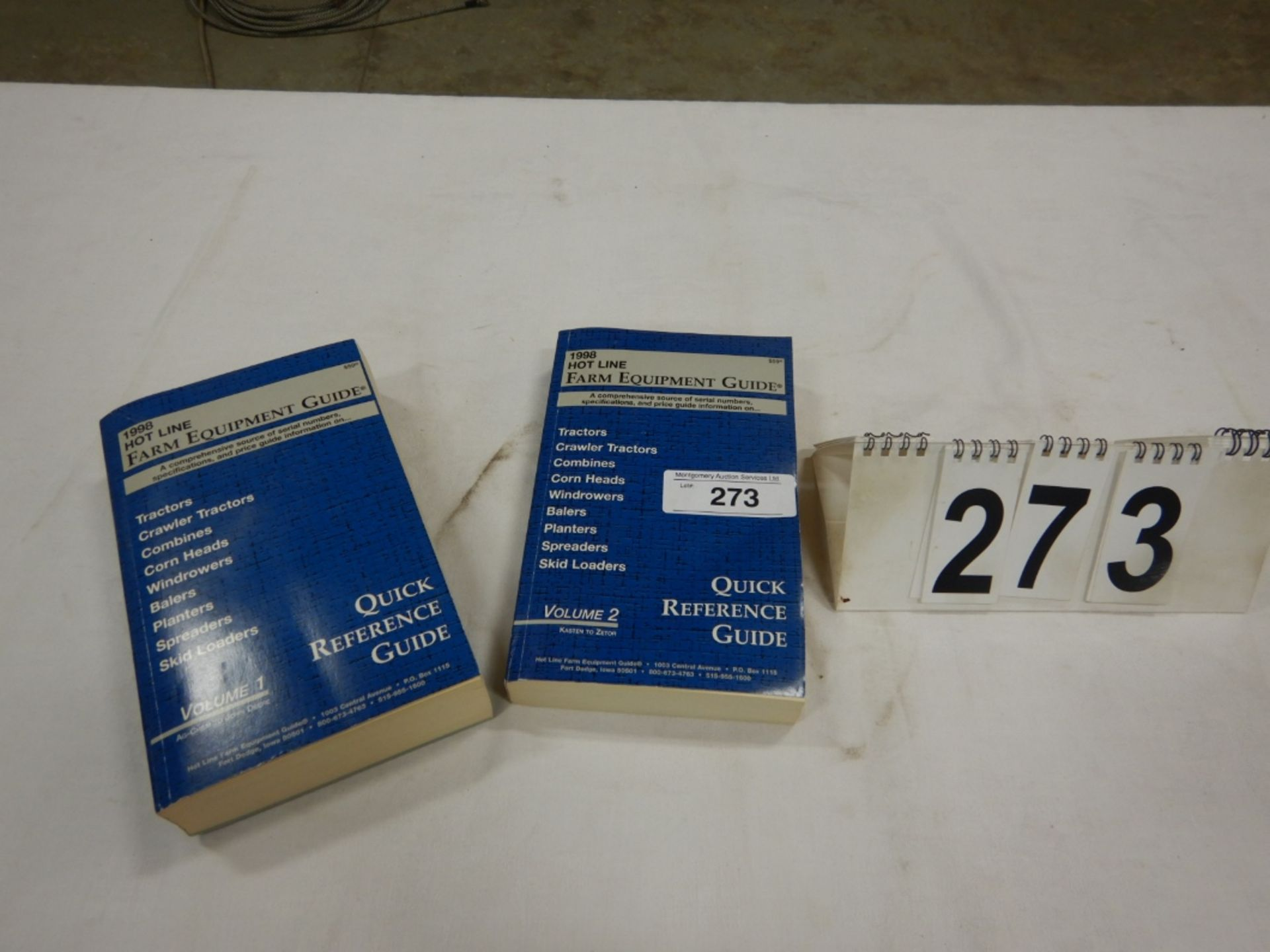 1998 HOT LINE FARM EQUIPMENT QUICK REFERENCE GUIDE VOLUME 1 & 2
