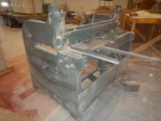 BROWN BOGGS 60 INCH PNEUMATIC 16 GAUGE METAL SHEAR LOCATED IN SYLVAN LAKE, AB, CANADA & REMOVAL IS