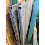 EXPANDABLE DOOR FRAMES (3) W/ DOOR SLABS (2), THRESHOLDS (3)