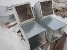 4 - EXHAUST FAN INLET/OUTLET GOOSENECK DUCTS W/ PEST SCREEN
