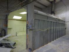 2008 CUSTOM MADE OPEN FACE SPRAY BOOTH - 17'X25'(PLUS PLENUM)X10'&' W/ UP DRAFT PLENUM & ROOF UNIT