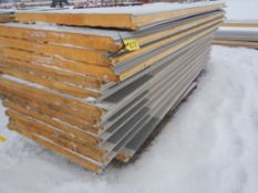 "(13) - METL-SPAN 3""THICK X 40"" WIDE INSULATED METAL PANELS R20 OFF OF BUILDING, SLIGHT HAIL"