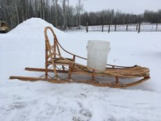 6 FOOT HANDCRAFTED SLED This sled is multi useful! It is a dog sled, but can be used for other