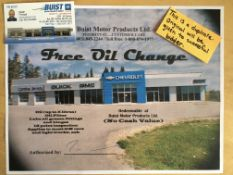 GIFT CERTIFICATE FOR A FREE OIL CHANGE Redeemable at Buist Motors Products Ltd. Oil change
