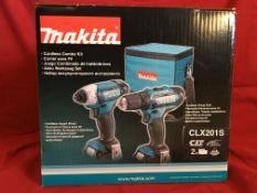 MAKITA 12 VOLT LITHIUM ION CORDLESS IMPACT DRIVER/DRILL COMBO KIT Kit includes: 1 cordless impact