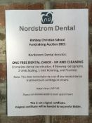 NORDSTROM DENTAL: DENTAL CHECK UP AND CLEANING GIFT CERTIFICATE Complete dental examination, 4