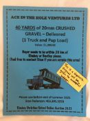 40 YARDS of 20mm CRUSHED GRAVEL - DELIVERED (1 Truck & Pup Load) Buyer needs to be within 20 km of