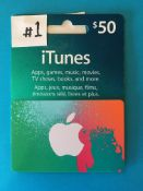 $50.00 iTunes GIFT CARD Donated by: RCS Value: $50.00