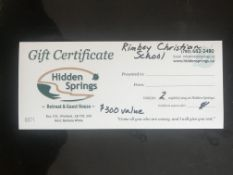 HIDDEN SPRINGS RETREAT & GUEST HOUSE: GIFT CERTIFICATE FOR 2 NIGHT STAY Good for 2 night stay for