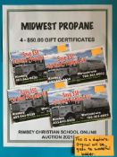 MIDWEST PROPANE: 4 - $50.00 GIFT CERTIFICATES 4 - $50.00 Gift Certificates for Bulk Propane