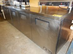 TRUE TUC 72 SS UNDERCOUNTER 3- DR REFRIGERATOR W/SS TOP, CASTORS – RECENTLY MAINTAINED, NEW