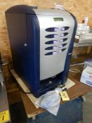 SAECO SG200e HOT BEVERAGE VENDING MACHINE W/KEYS, 120V, 1350 WATT, S/N 900806P0030281– NEVER USED,