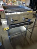 """MRE 24"""" LPG CHARBROILER W/SS EQUIPMENT STAND – NEVER USED"""