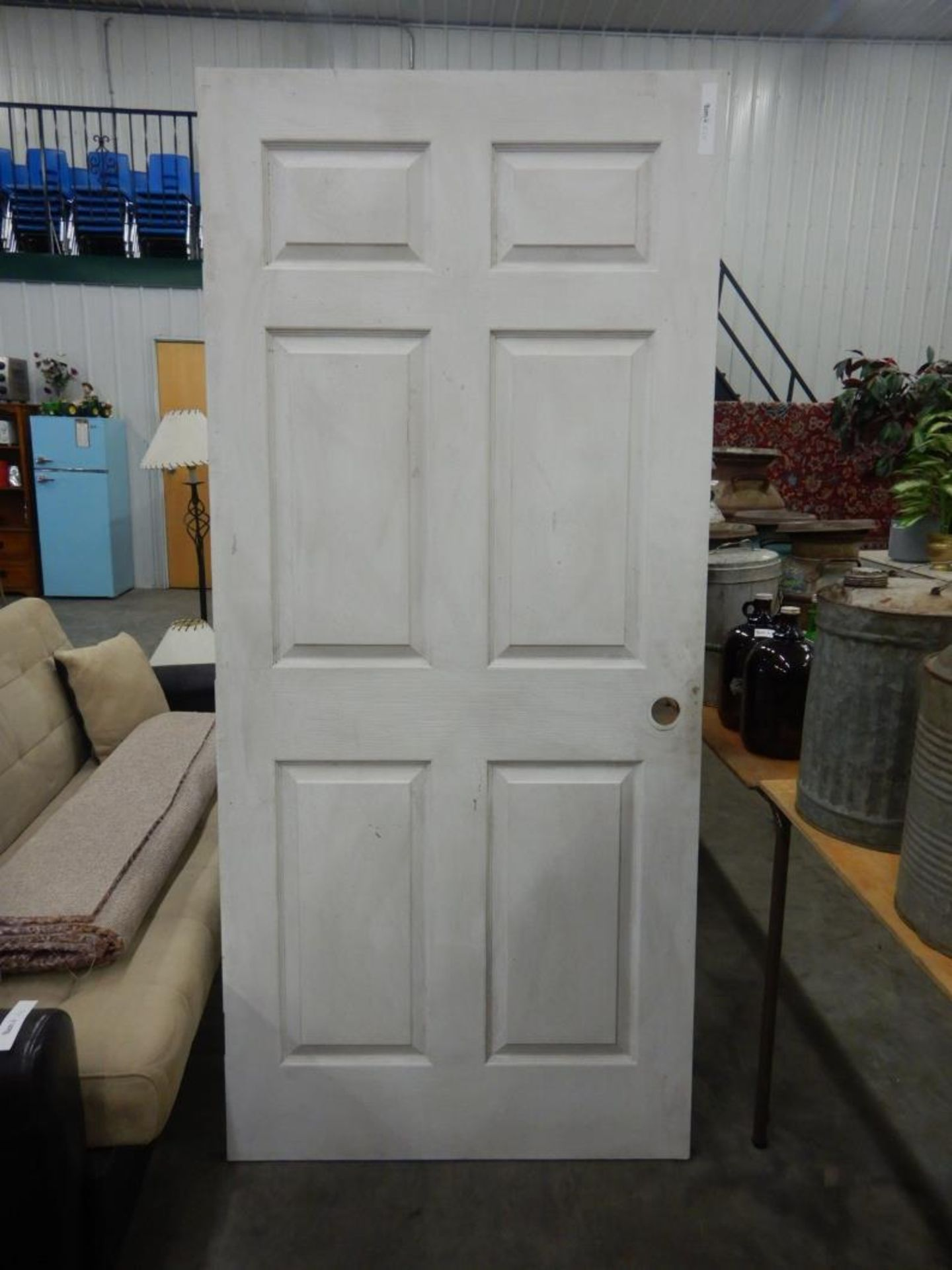 """PREVIOUSLY INSTALLED 36"""" X 80 INTERIOR DOOR W/ HINGES - Image 2 of 2"""