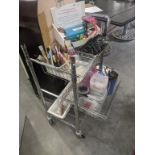 """METAL 3 TIER BAKER'S CART - 20 1/2""""W X 35 1/2""""H X 14 1/2""""D (CONTENTS NOT INCLUDED)"""