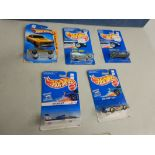 """HOT WHEELS CARS - """"SOLE-AIRE CX4"""", """"76 CHEVELLE SS 396"""", """"PEUGOT 405"""", """"STREETBEAST"""", """"HYDROJET"""""""