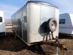 04/2012 TNT TRAILER - 20 FT T/A ENCLOSED TRAILER W/REAR BARN DOORS, S/N 5WBBE20226CW0058005