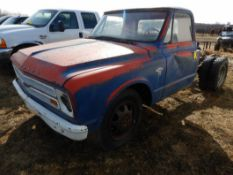 1970'S CHEV 30 CAB & CHASSIS - REG CAB, DUALS, NO ENGINE OR TRANSMISSION S/N CE3371125498