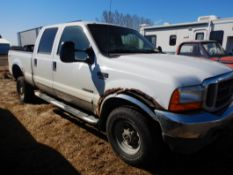 2001 FORD F350 4X4 7.3L POWERSTROKE DIESEL , BUILT TRANSMISSION, CHIPPED, AFTERMARKET TURBO, 386,