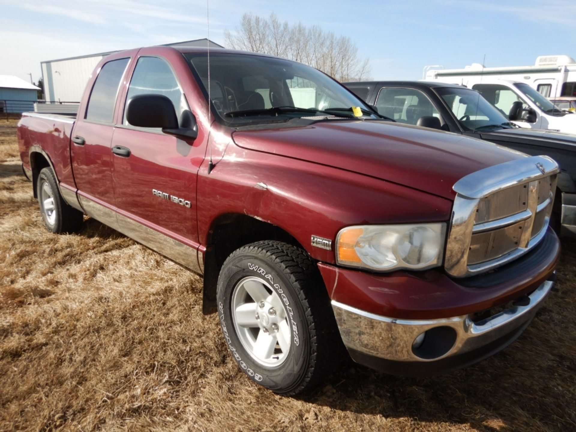 2003 DODGE RAM 1500 PICKUP, GAS, CREW CAB, SHORT BOX, AT, 248,000KM'S SHOWING, S/N