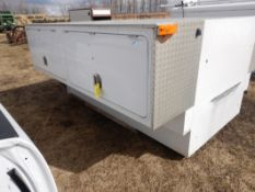 WESTERN TRUCK BODY 8FT SERVICE BODY W/ EXTERIOR TOOL BOXES AND TRUCK BED CARGO SLIDE
