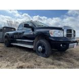 09/2006 DODGE RAM 3500 HD 4X4 CREW CAB, DUALLY, LONG BOX PICKUP W/CUMMINS TURBO DIESEL ENGINE, 5W,