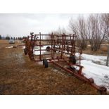 HYD. HARROW CART - 50 FT W/SPRING TOOTH HARROWS *NOTE - 1 HARROW MISSING
